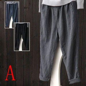 Cotton Linen Ladies Casual Pants Cropped Pants