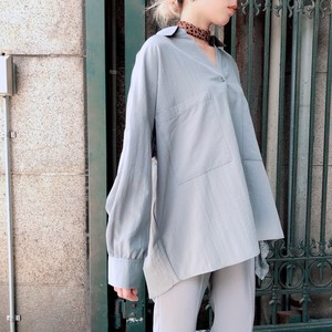 """2020 New Item"" Stole Attached Shirt Blouse"