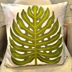 Cushion Cover Embroidery Resort Plant Interior Accessory Life