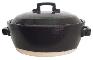 Ceramic Processing Earthen Pot Tile Black Size 7 Heat-Resistant Pottery Pottery