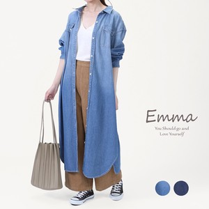[ 2020NewItem ] Shirt One-piece Dress Cape Denim Shirt Long Shirt