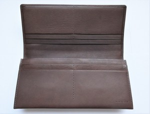 Made in Japan Italy Cow Leather Long Wallet Zipper Top