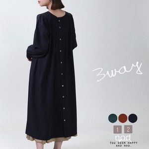 A/W One-piece Dress Long One-piece Dress Light Outerwear Non-colored
