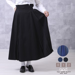 [ 2020NewItem ] Denim Skirt Pleats Long Skirt Waist