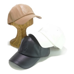 Front Same Color Embroidery Leather Cap Young Hats & Cap