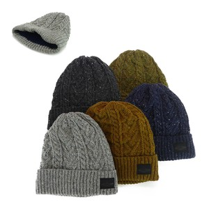 Patch Nep Cable Knitted Watch Cap Young Hats & Cap