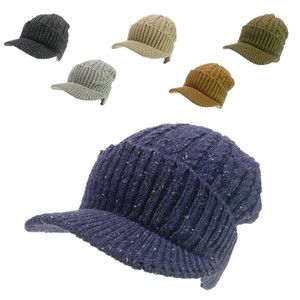 Cable Nep Knitted Casquette Young Hats & Cap