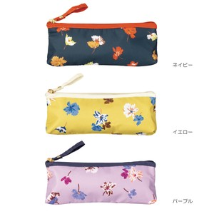 20 S/S Umbrella Folding Umbrella Zipper Pouch Black Flora Mini