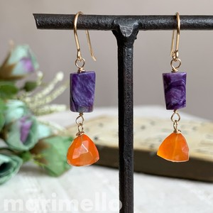 Natural stone Carnelian Pierced Earring
