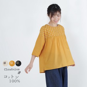 Cloud Gather Blouse Three-Quarter Length