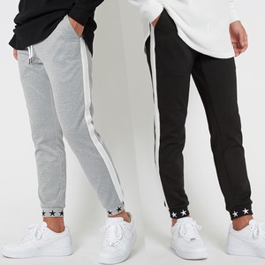 A/W Men's Star Embroidery ponte fabric Pants