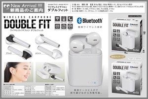 Earphone Black Blue Lcd Attached Bluetooth Attached Case