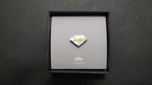 Mother of Pearl Jewel Echizen Lacquerware Wooden pin Badge Suits Mother of Pearl