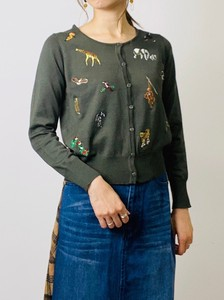 Animal Embroidery Knitted Cardigan
