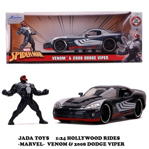 1:24 MARVEL SPIDER-MAN VENOM & 2008 DODGE VIPER 【ヴェノム ミニカー】