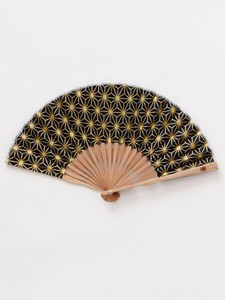 Design for Men Gold Wire Hemp Folding Fan Bag Attached