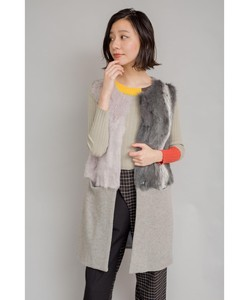 Line Point Fur Knitted