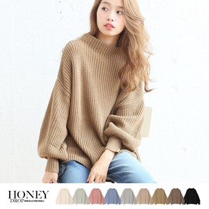A/W Balloon Sleeve Knitted Top