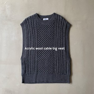 Acrylic Wool Cable Knitted Big Vest [ 2020NewItem ]