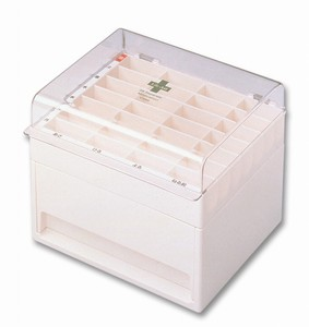 Medicine Rearranging Bag Case Clear Ivory Clear Ivory