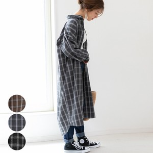 Checkered Shirt One-piece Dress mitis