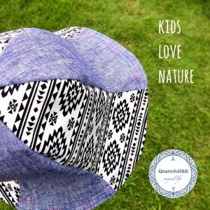 [ 2020NewItem ] Reversible Kids Hat Attached Hand Maid Ortega Chambray