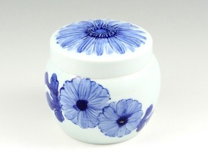 Pet Interior Indigo-Dyed Gerbera Memo Pad Real Pot Inside Dimention 9cm