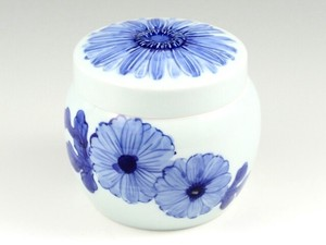 Pet Interior Indigo-Dyed Gerbera Memo Pad Real Pot Inside Dimention 12cm