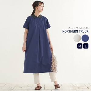 Rack Short Sleeve Shirt One-piece Dress Long Cotton