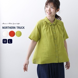 Rack Gather Shirt Blouse Short Sleeve