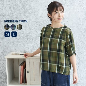 Rack Checkered Blouse Ladies Plate
