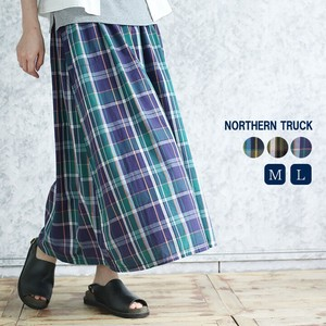 Rack Checkered Skirt Ladies Cotton