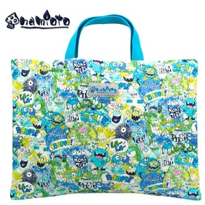 "Monster Party Blue Lesson Bag Kilting Hand Maid Tote Bag ""2020 New Item"""