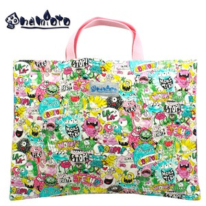 "Monster Party Pink Lesson Bag Kilting Hand Maid Tote Bag ""2020 New Item"""
