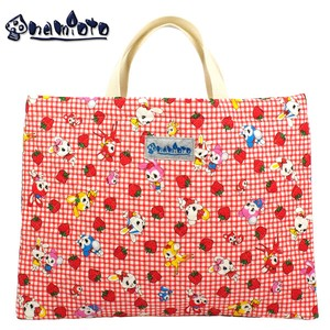 "Strawberry Land Red Lesson Bag Kilting Tote Bag ""2020 New Item"""