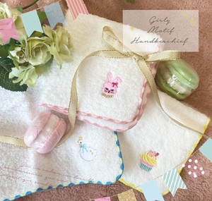 Embroidery Fluffy Handkerchief