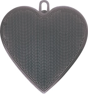 Silicone Brush Heart Gray