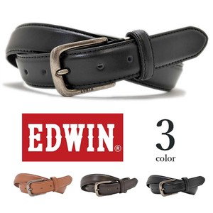 EDWIN Plain Real Leather Belt Men's Ladies Unisex