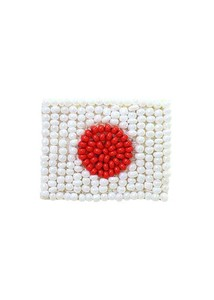 A/W Glass Beads National Flag Brooch