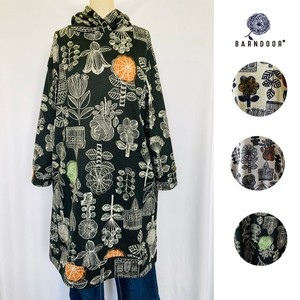 Reservations Orders Items [ 2020NewItem ] Scandinavia Floral Pattern Hoody Tunic