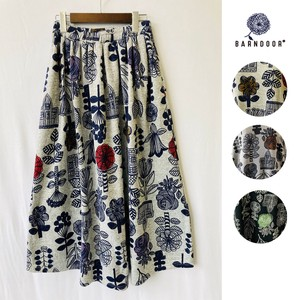 Reservations Orders Items [ 2020NewItem ] Scandinavia Floral Pattern Flare Skirt
