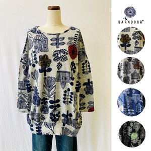 Reservations Orders Items [ 2020NewItem ] Scandinavia Floral Pattern Tunic