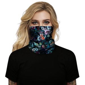 Fashion Beauty Digital Print Multiple Functions Scarf Hood