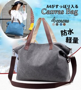 Shoulder Bag Tote Bag Cotton Canvas Light-Weight Trip Everyday