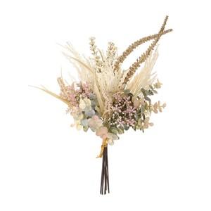 ★MAGIQ★パンパスユーカリブーケ クリーム/グリーン 造花 花束 アーティフィシャルフラワー
