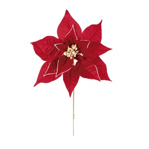 Lian Poinsettia Pick Red Artificial Flower Flower Christmas Display