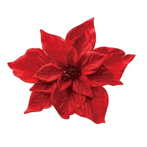 Poinsettia Clip Red Artificial Flower Flower Christmas Display