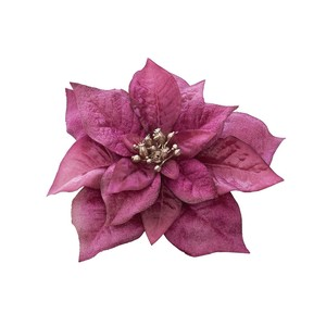 Carol Poinsettia Clip Hot Pink Artificial Flower Flower Christmas Display