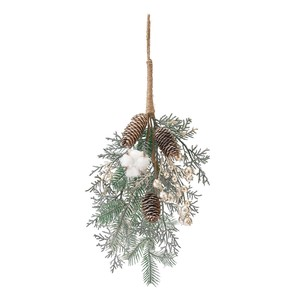 Artificial Flower Flower Christmas Display Hanging