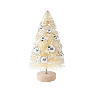 Silver Ball Tree Christmas Fancy Goods Tree 3 Pcs Ornament Display